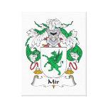 Escudo de la familia del MIR Lona Envuelta Para Galerías