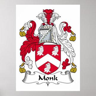 Escudo de la familia del monje posters