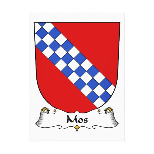 Escudo de la familia del MOS Lona Envuelta Para Galerías