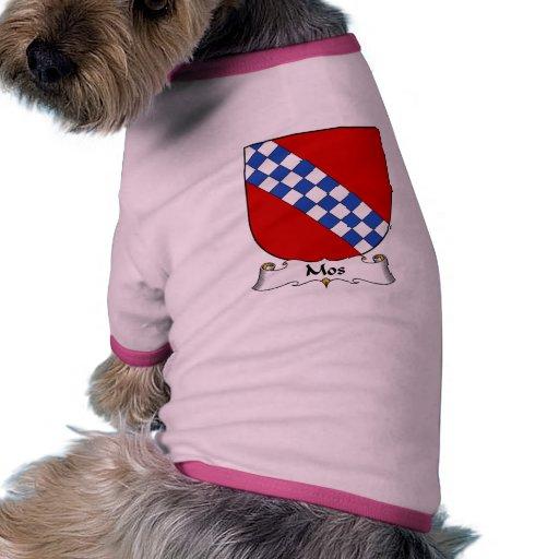 Escudo de la familia del MOS Camiseta Con Mangas Para Perro