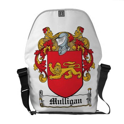 Escudo de la familia del Mulligan Bolsa Messenger