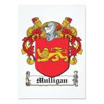 Escudo de la familia del Mulligan Invitacion Personal