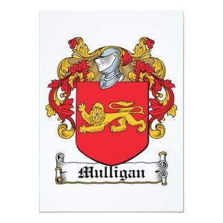 """Escudo de la familia del Mulligan Invitación 5"""" X 7"""""""