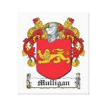 Escudo de la familia del Mulligan Lona Envuelta Para Galerías