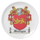 Escudo de la familia del Mulligan Platos