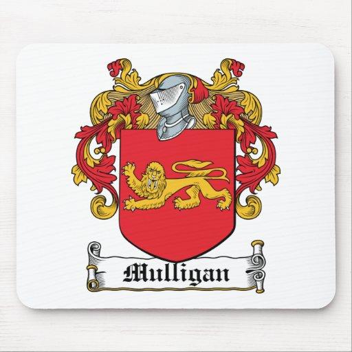Escudo de la familia del Mulligan Tapete De Ratones