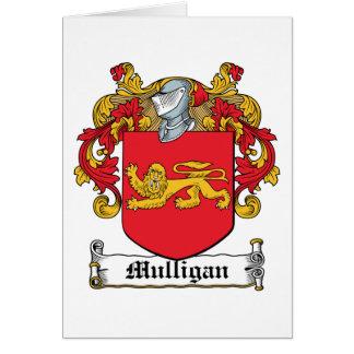 Escudo de la familia del Mulligan Tarjeta De Felicitación