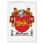 Escudo de la familia del Mulligan Tarjetón