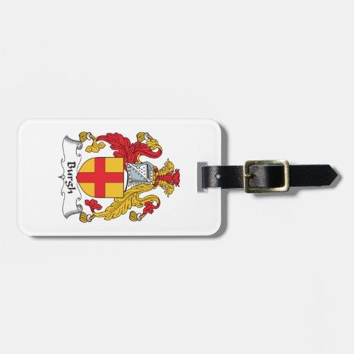 Escudo de la familia del municipio escocés etiqueta de maleta