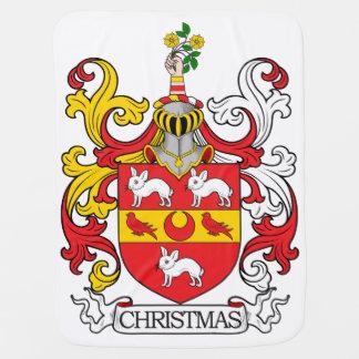 Escudo de la familia del navidad mantitas para bebé
