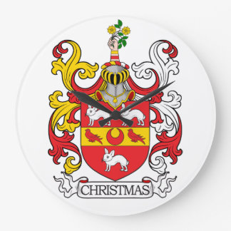 Escudo de la familia del navidad relojes