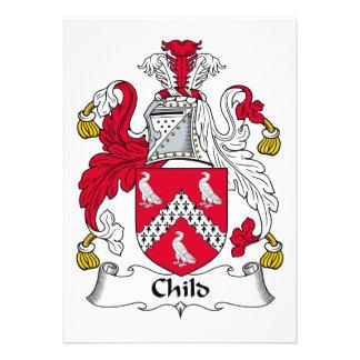 Escudo de la familia del niño invitación