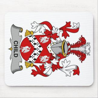 Escudo de la familia del niño alfombrilla de ratón