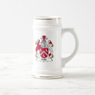 Escudo de la familia del niño tazas de café