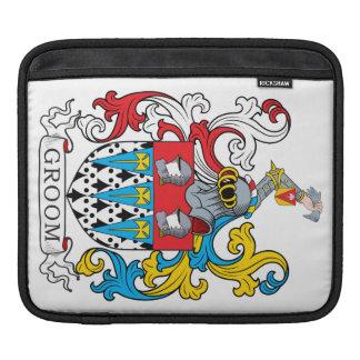 Escudo de la familia del novio fundas para iPads
