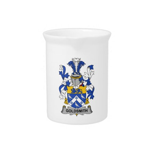 Escudo de la familia del orfebre jarra para bebida