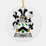 Escudo de la familia del oro adorno