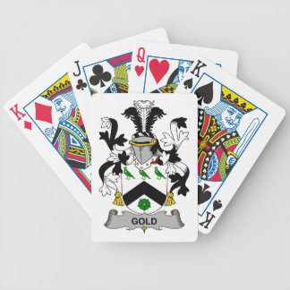 Escudo de la familia del oro barajas de cartas