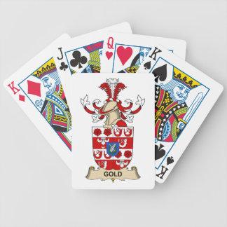 Escudo de la familia del oro cartas de juego