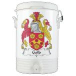 Escudo de la familia del oro enfriador de bebida igloo