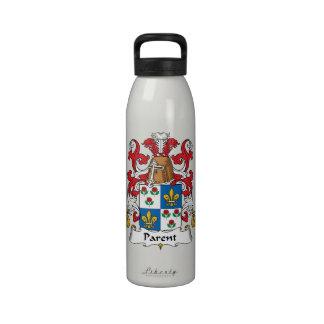 Escudo de la familia del padre botellas de agua reutilizables