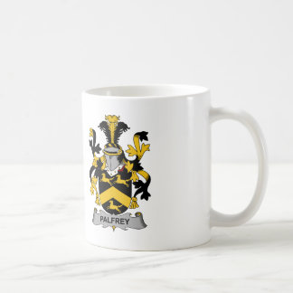 Escudo de la familia del palafrén taza de café