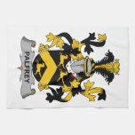 Escudo de la familia del palafrén toallas
