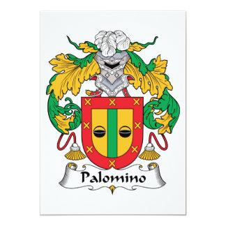 """Escudo de la familia del Palomino Invitación 5"""" X 7"""""""