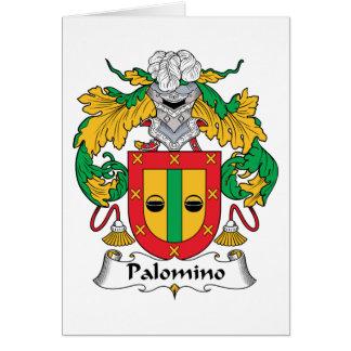 Escudo de la familia del Palomino Tarjeta De Felicitación