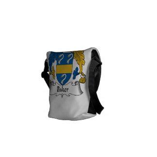 Escudo de la familia del panadero bolsa de mensajería