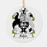 Escudo de la familia del panadero ornamento para reyes magos