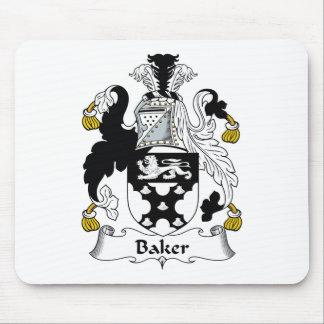 Escudo de la familia del panadero tapetes de ratones