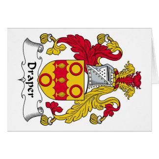 Escudo de la familia del pañero tarjeta de felicitación