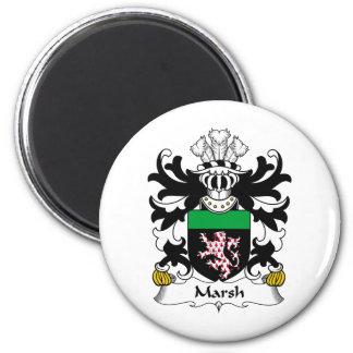 Escudo de la familia del pantano imán redondo 5 cm