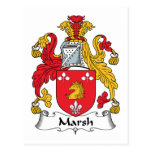Escudo de la familia del pantano tarjeta postal