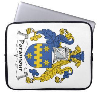 Escudo de la familia del Paramour Mangas Portátiles