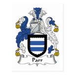 Escudo de la familia del Parr Postales