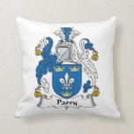 Escudo de la familia del Parry Cojines