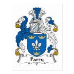 Escudo de la familia del Parry Postal
