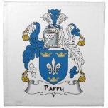 Escudo de la familia del Parry Servilletas
