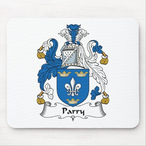 Escudo de la familia del Parry Alfombrillas De Ratones