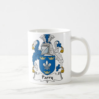 Escudo de la familia del Parry Taza De Café