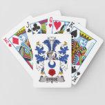 Escudo de la familia del paso grande baraja cartas de poker