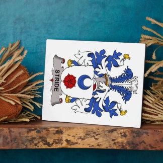 Escudo de la familia del paso grande placas con fotos