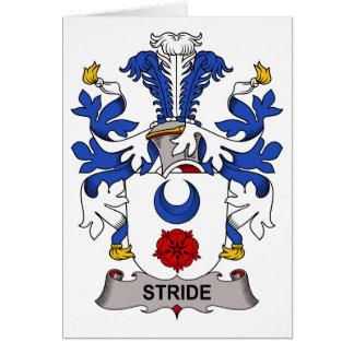 Escudo de la familia del paso grande tarjeta de felicitación