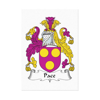Escudo de la familia del paso impresion de lienzo