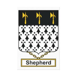 Escudo de la familia del pastor impresiones en lienzo estiradas