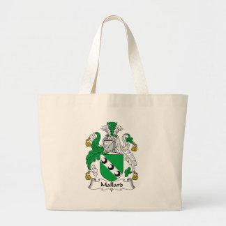 Escudo de la familia del pato silvestre bolsas lienzo