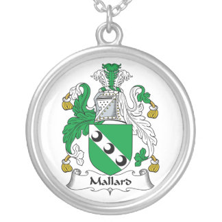 Escudo de la familia del pato silvestre collar personalizado