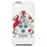 Escudo de la familia del pavo real iPhone 5 Case-Mate protector